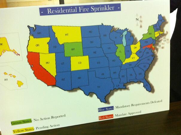States Sprinkler Map