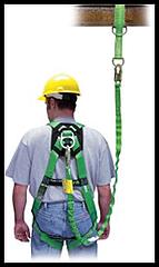 Harness fall protection mass