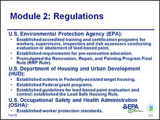module 2 regulations