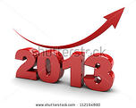 stock photo  d illustration of number year with red arrow up 112194890