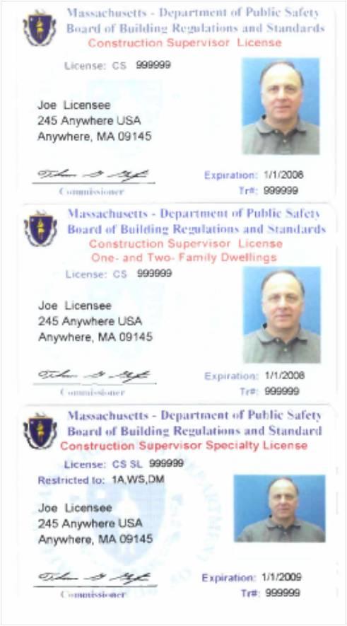 Mass CEU Construction Supervisor License Training Schedule